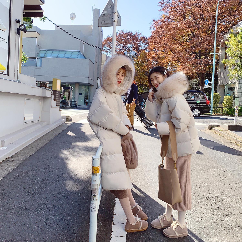2018新款网红棉袄韩版大毛领中长款棉衣加厚女士冬季外套