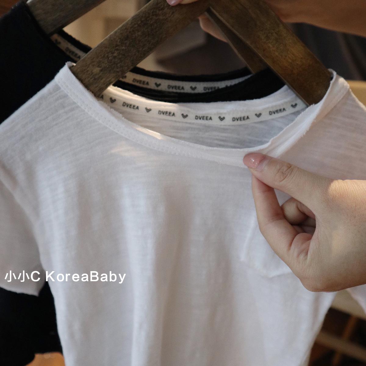 夏季新款 2019 一家三口装韩国婴童男女宝宝 恤 T 亲子短袖 chic 竹节棉