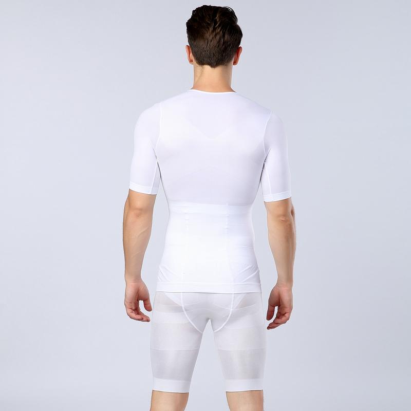 男士塑身收腹束胸束腰塑腿分体套装高腰收腹束身弹力压力塑形紧身