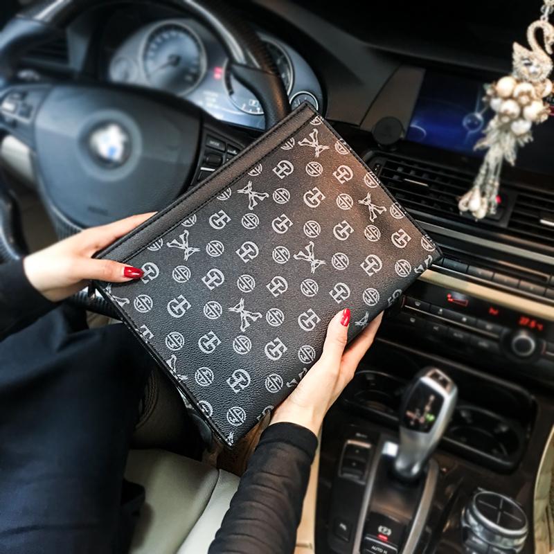 包文件包潮 iPad 潮流手抓包 新款男女信封包 经典商务休闲男士手包