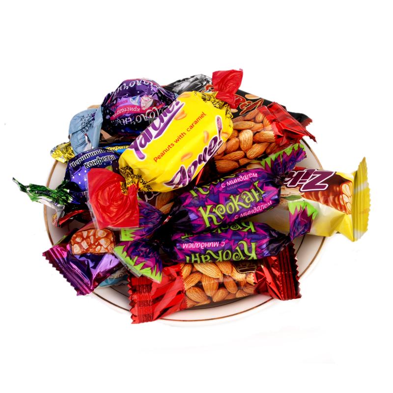 超实惠俄罗斯进口紫皮混合装巧克力喜糖果年货零食品礼包散装包邮