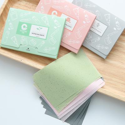 【拍3免1】吸油面纸夏季绿茶竹炭控油男女士面部吸油纸100片装
