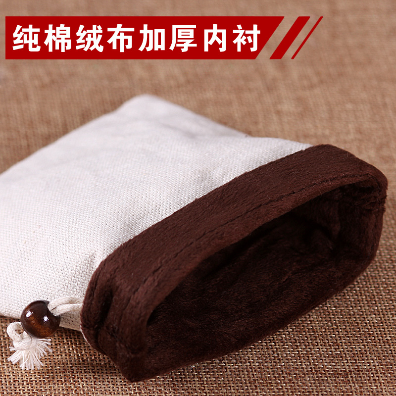 纯棉麻文玩布袋束口抽绳绒布锦囊小布袋子佛珠袋盘珠福袋批量定制