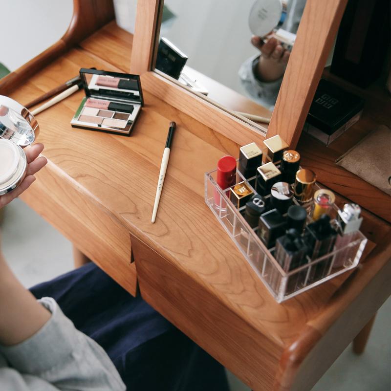 [凡屋/小钢琴梳妆台]实木樱桃黑胡桃化妆桌台小户型大容量北欧