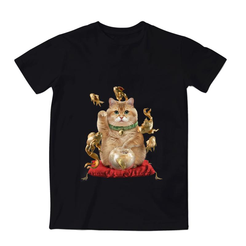 Hosico_猫合集 正版猫咪周边插画宽松可爱中性风男女情侣T恤短袖主图