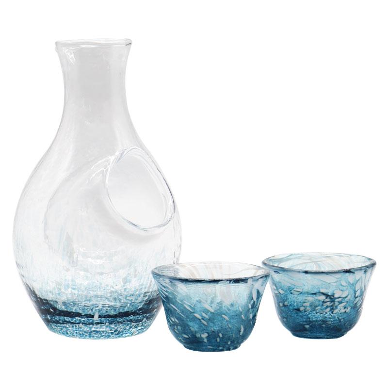 现货日本进口东洋佐佐木冰见雪匠人手工冰酒壶清酒酒具礼盒套装