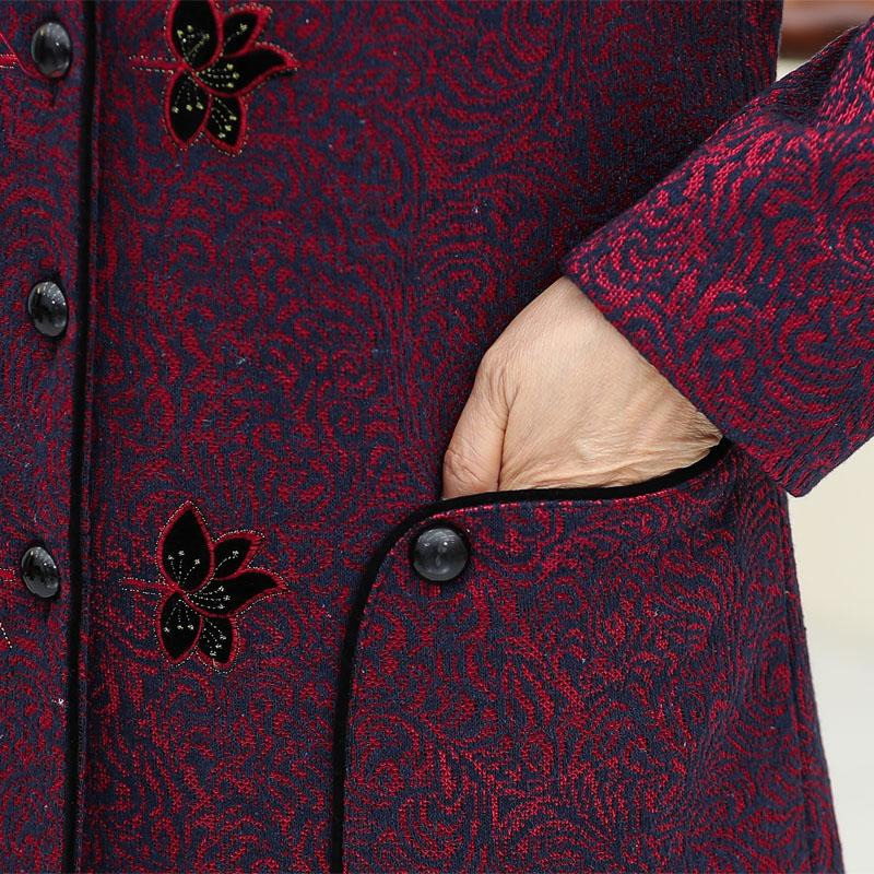 奶奶秋装上衣外套 80 岁老人衣服 70 老年妈妈加绒加厚 60 老年人秋冬女