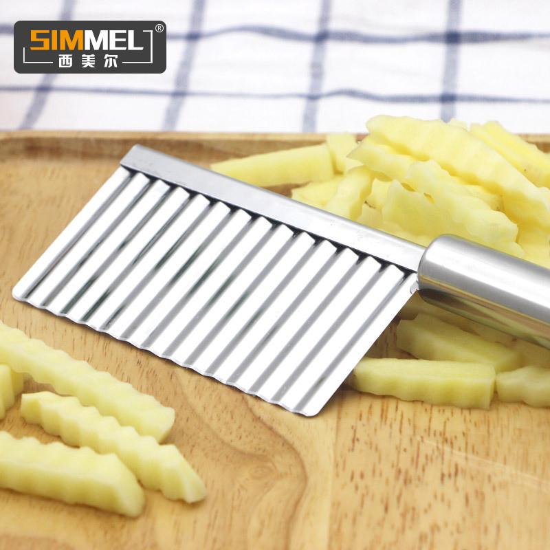 不鏽鋼法式薯條波紋刀 狼牙條土豆刀波浪刀切面刀波紋切刀