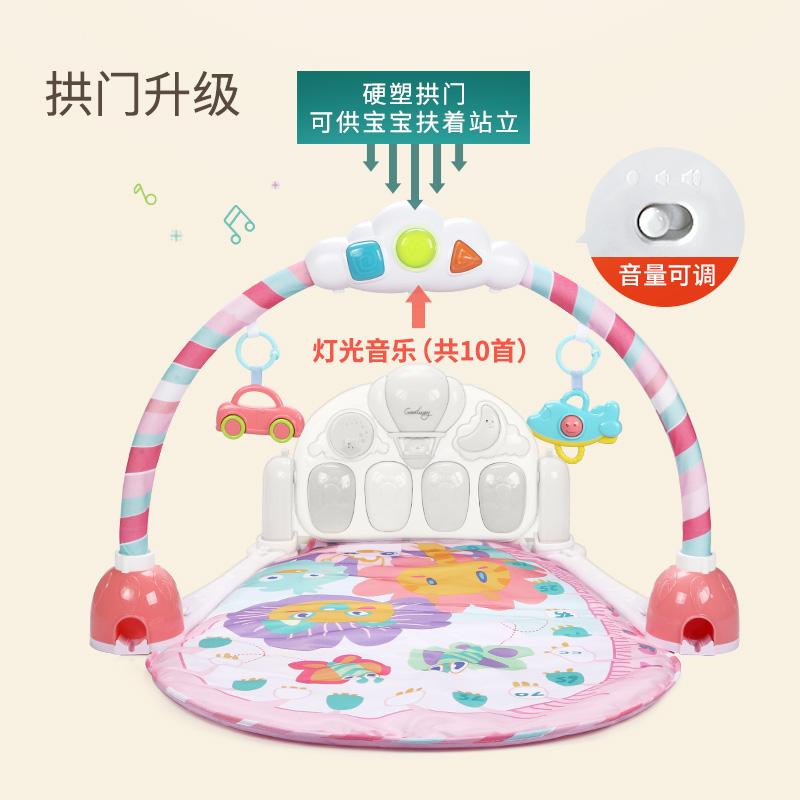 谷雨宝宝脚踩脚踏脚蹬钢琴键盘琴键音乐婴儿健身架器圆形床铃玩具