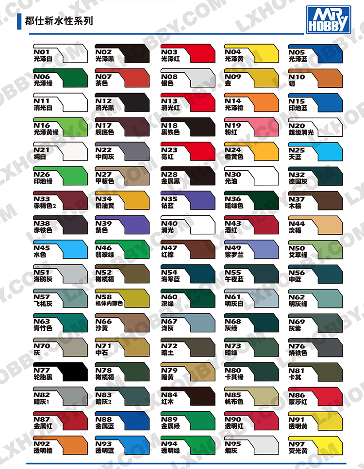 郡仕模型N系列油漆高达模型上色颜料涂料