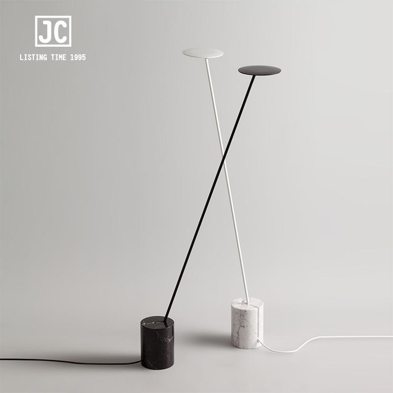 艺术床头卧室设计师样板房创意调节落地灯 北欧大理石长杆落地灯