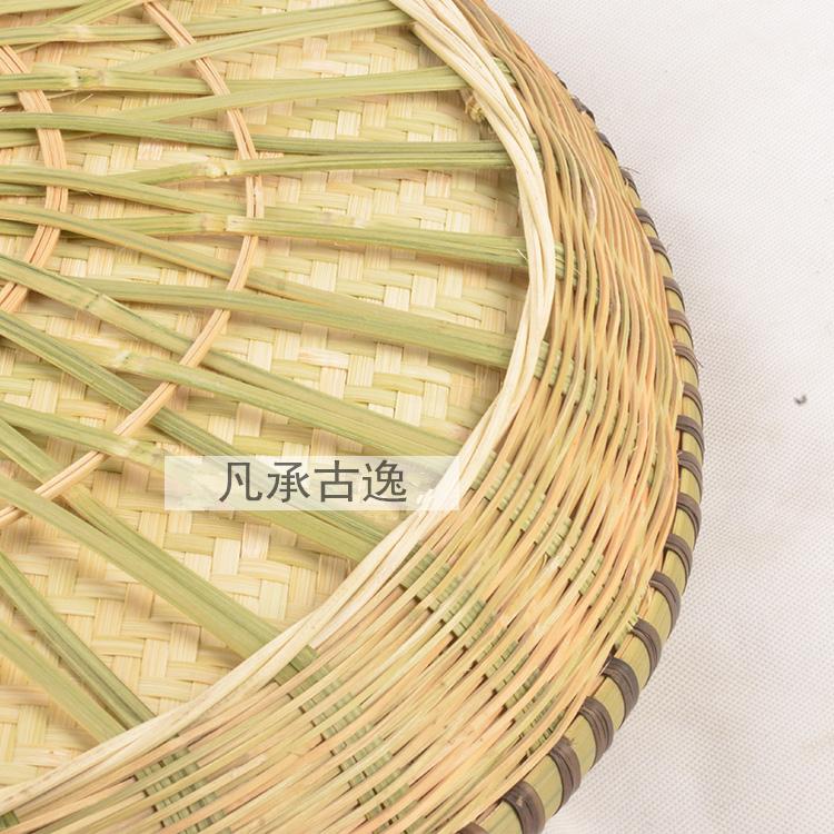 特色优质工艺品竹编簸箕 农家环保竹筛无孔手工竹制品收纳筐