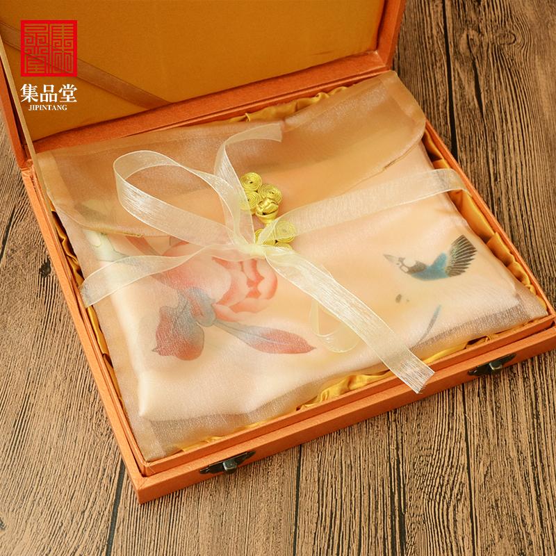 桑蚕丝长巾围巾中国元素民族风特色外事出国外事圣诞节礼品送老外