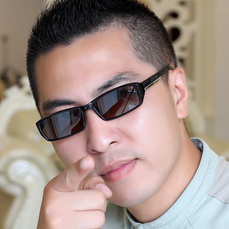 新品时尚黑框水晶太阳眼镜男女款天然石头镜片墨镜防辐射护目 2018