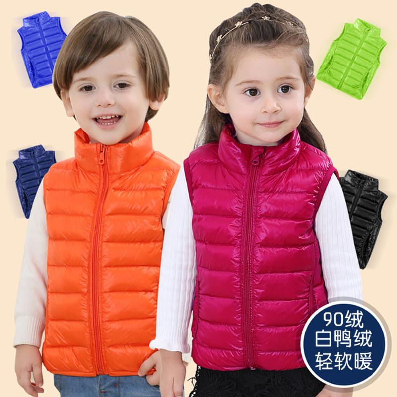 兒童馬甲秋冬季輕薄款中小童裝男童女童寶寶羽絨背心外套坎肩外穿