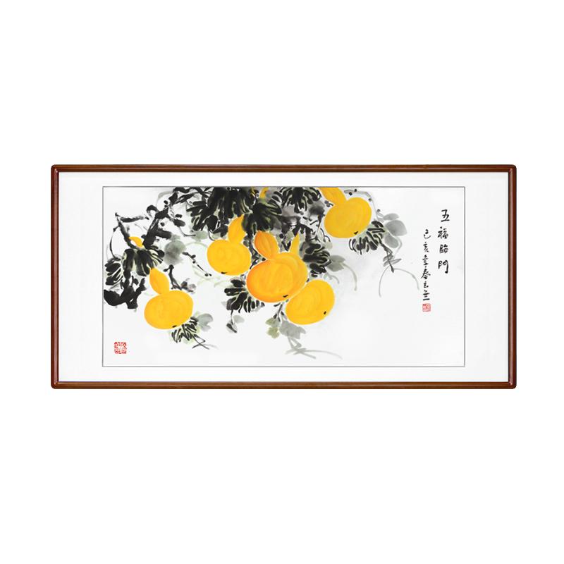 國畫葫蘆福祿畫裝飾掛畫中式風水字畫純手繪花鳥玄關豎版走道壁畫