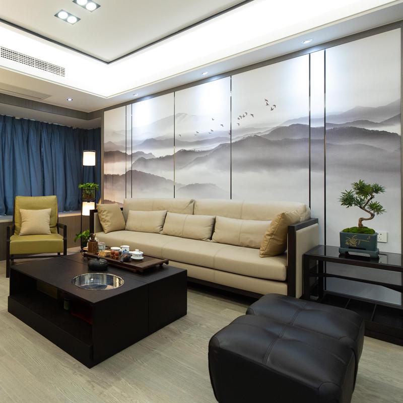 意境水墨壁纸客厅卧室墙纸大气墙布 电视背景墙 中式写意山水壁画