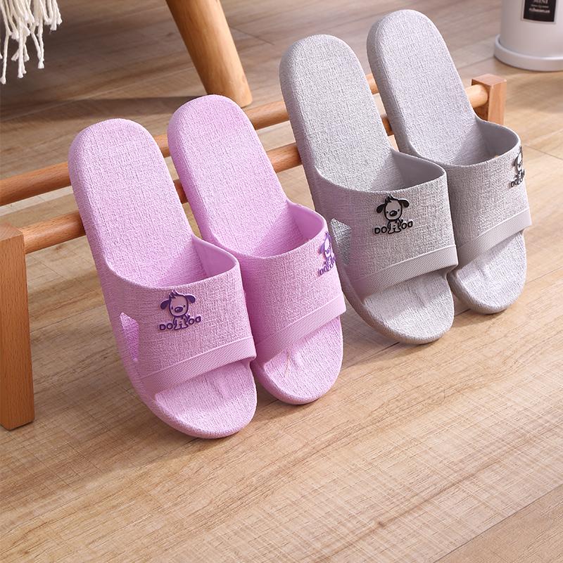 日式室内拖鞋女夏家用防滑情侣居家软底浴室洗澡平底卡通凉拖鞋男