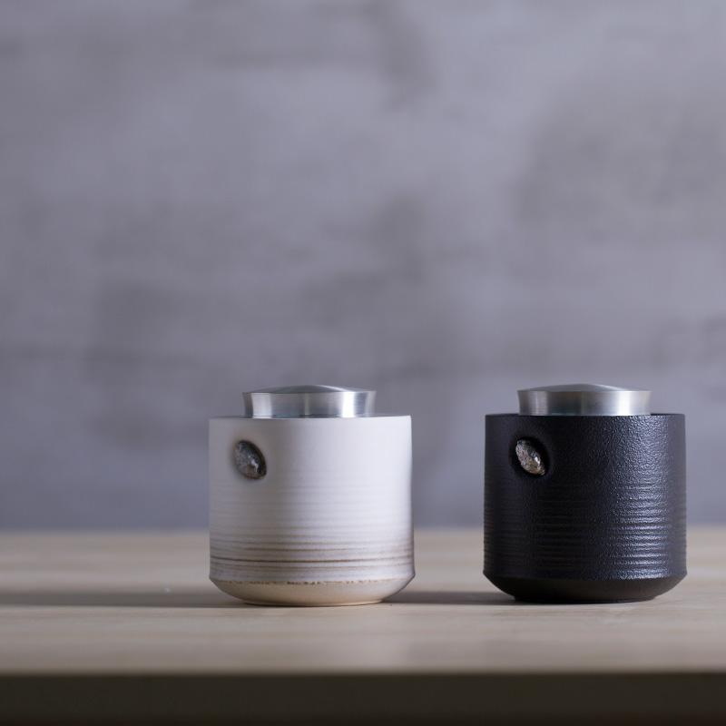 萬仟堂茶葉罐陶瓷密封罐錫罐便攜茶葉儲存罐 禪風系列茶葉罐02