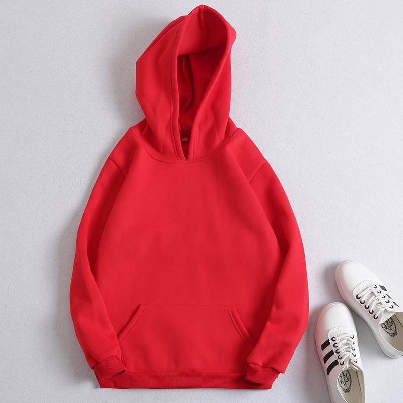 园服工作服绒保暖卫衣 logo 全家福加 红色新年连帽加绒亲子装定制
