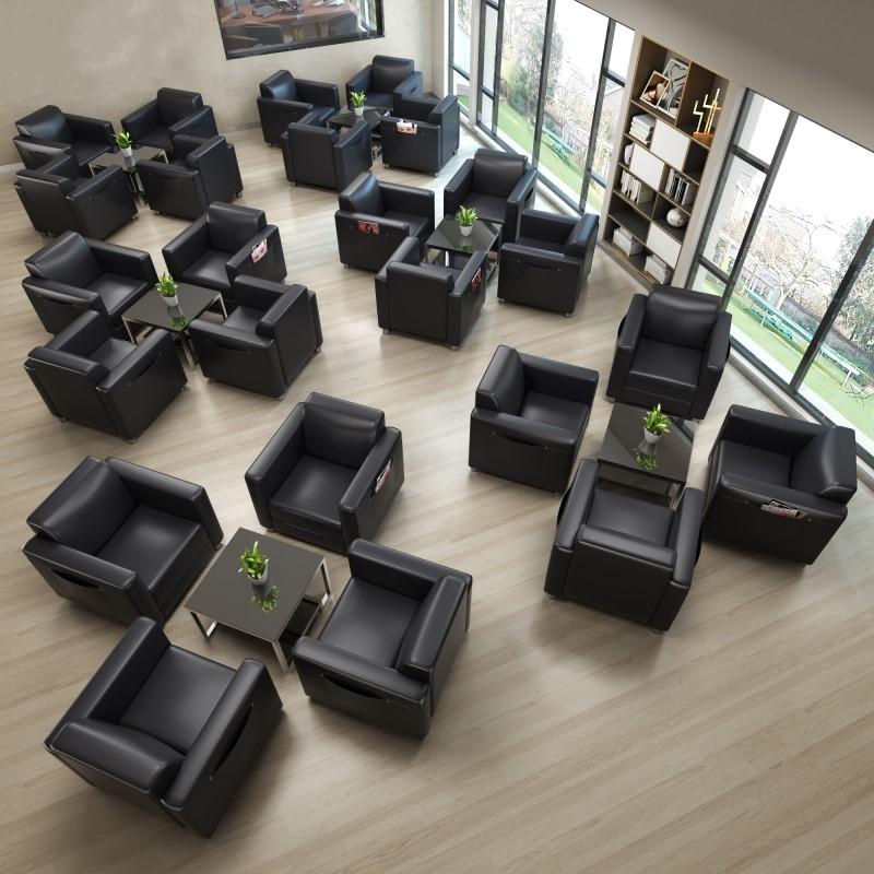 店单人位西皮 4S 简约办公沙发茶几组合商务展厅接待室休息区洽谈