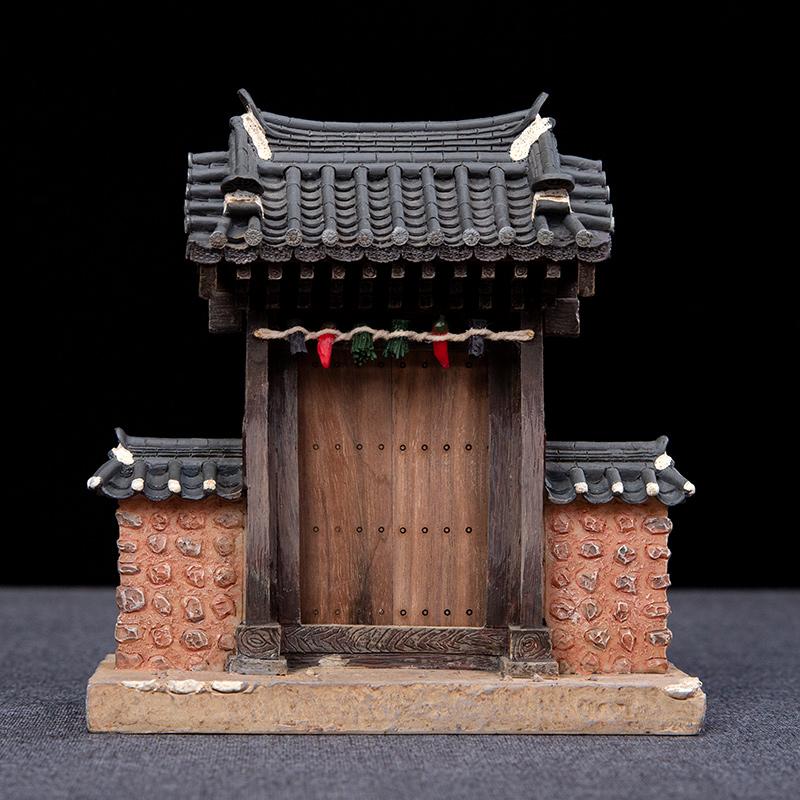 中式传统古典建筑微缩模型书房办公室创意摆件装饰品中国风礼品