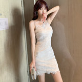 Sexy feminine double gauze dress 2020 new summer dress straps French super fairy skirt female