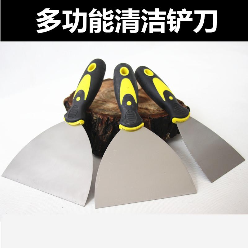 铲墙皮剁辣椒木柄铲子除污墙面白灰腻子专业工具装修神器清洁铲刀