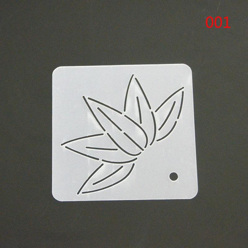 塑料模版拼布工具压线模板刺子绣模板梅花图案竹子绗缝描图板绘图