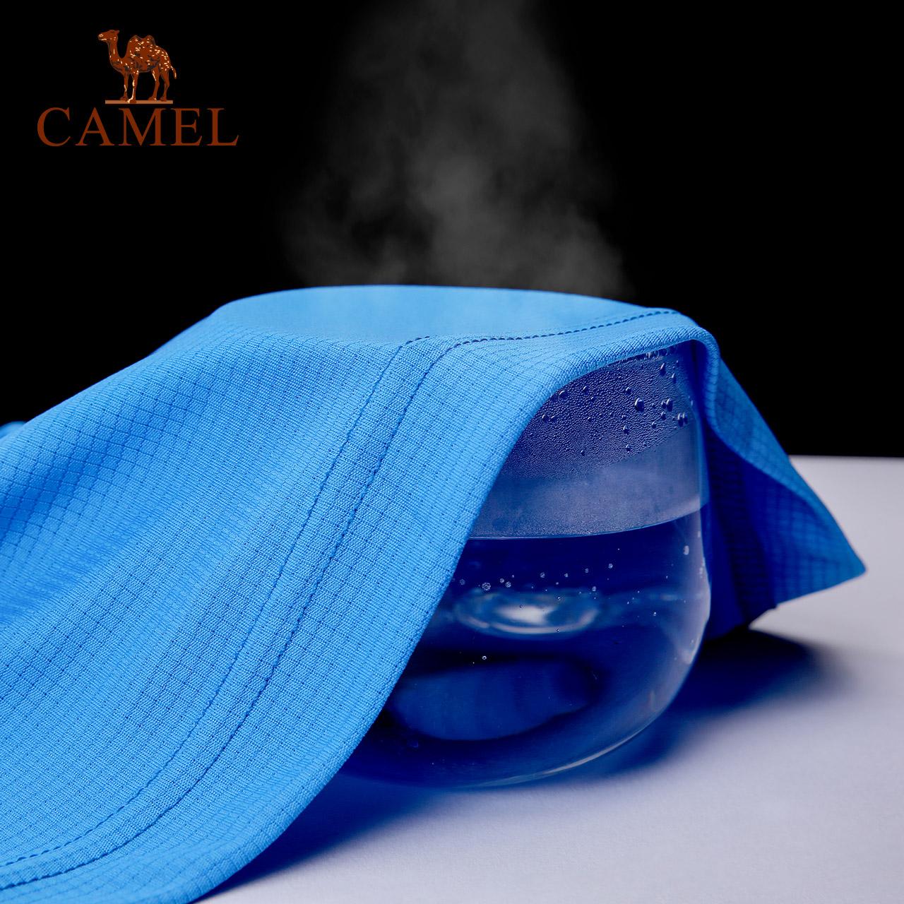 骆驼快干t恤男士吸汗透气速干圆领体恤跑步半袖运动短袖t恤女上衣