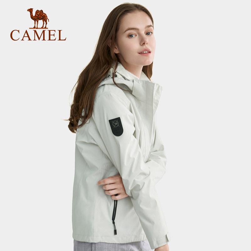 潮牌加绒加厚三合一两件套防风防水外套 2019 骆驼户外冲锋衣男女装