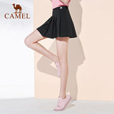 Camel sports cocktail dresses 2020 summer new pleated tennis skirts recreational sports style A-line dress