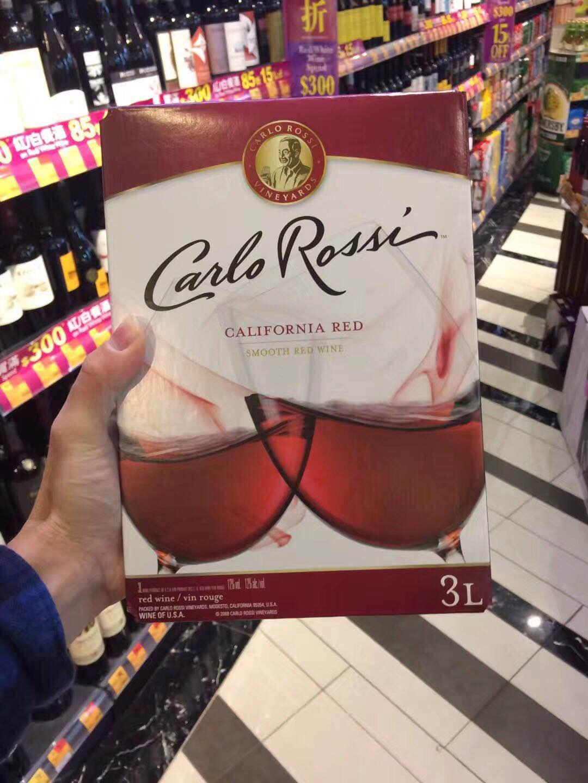 斤装香港红酒美国原装进口 6 盒装美国加州乐事红酒双杯 3L 加州红酒