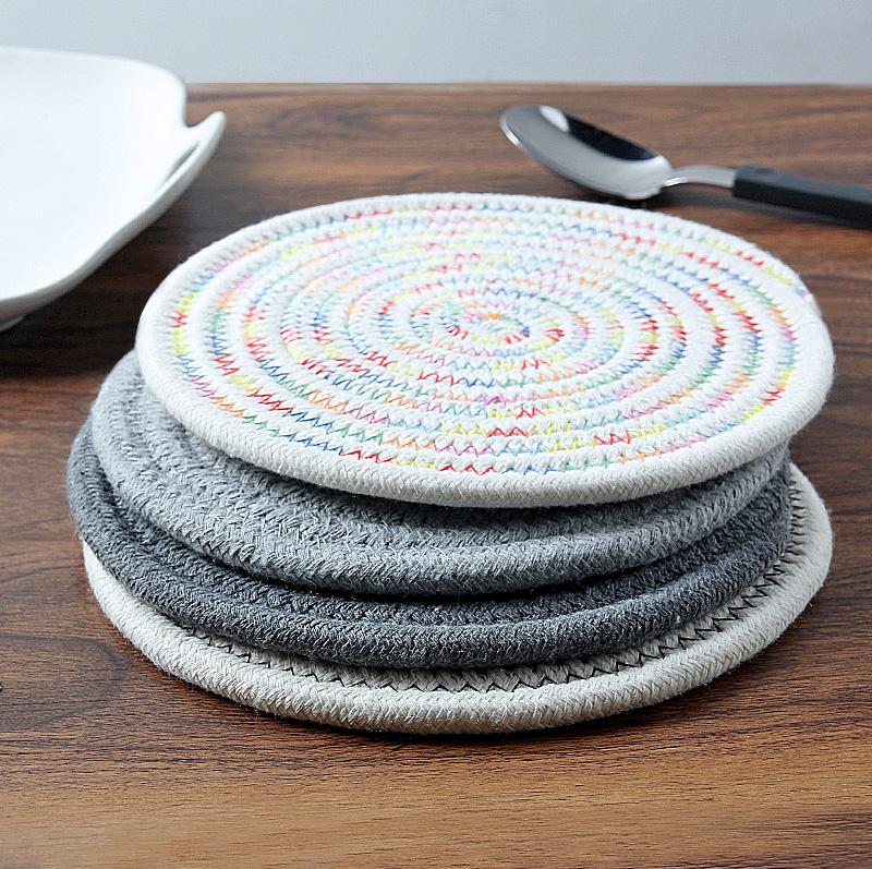 加厚餐桌墊隔熱墊家用耐熱防燙盤墊碗墊子北歐日式餐墊茶杯墊鍋墊