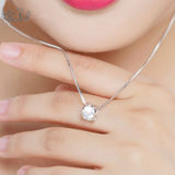 PT950 platinum necklace collarbone necklace 18K white gold necklace female models double heart-shaped diamond pendant gift girlfriend