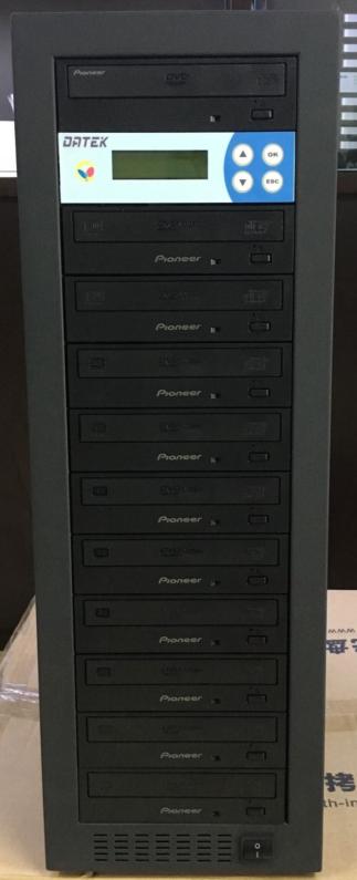 先锋一拖十DVD光盘拷贝机 刻录塔光盘塔 刻盘机德科U168 128M 控制器支持蓝光 拷贝蓝光盘需换成蓝光刻录机