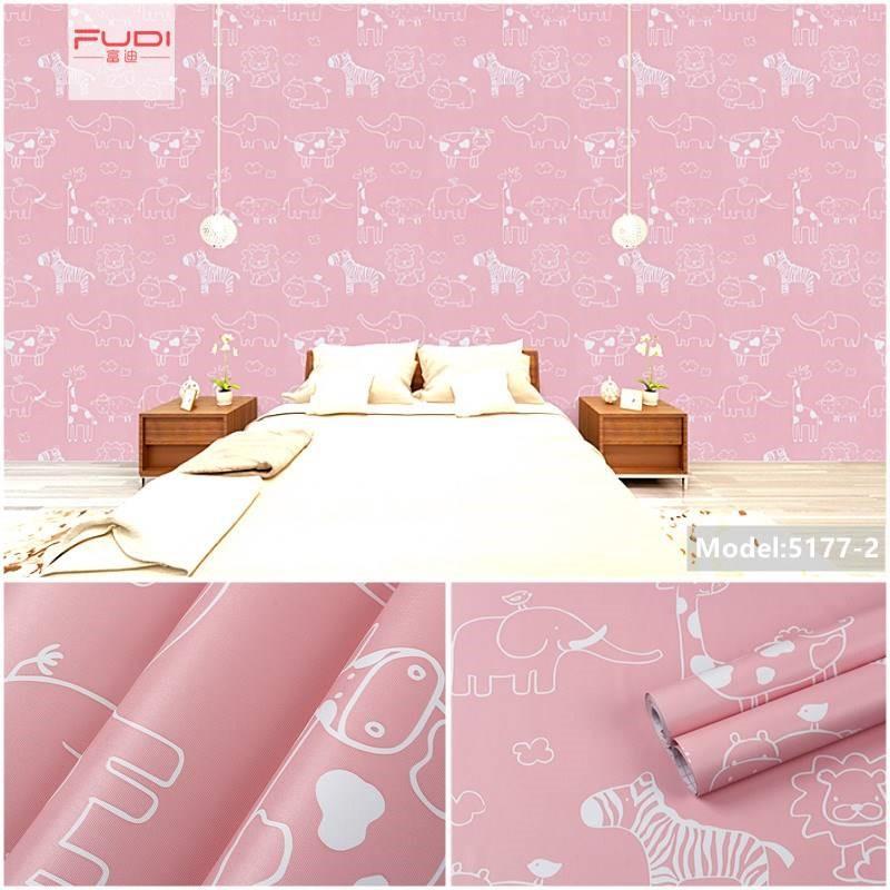 儿童房装饰卡通可爱墙纸自粘卧室女孩温馨小清新房间布置床头贴纸