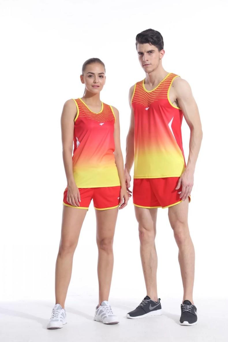 男女款田径服训练套装田径比赛服跑步服背心短裤舒适透气可印号