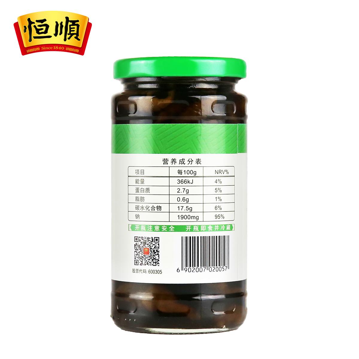 恒顺宝塔菜375g 江苏镇江特产 下饭小菜 腌制泡菜 酱菜 榨菜