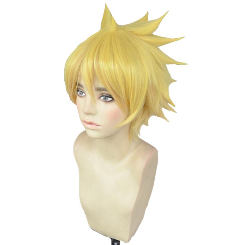 火影忍者漩涡博人BORUTO少年金黄渐变短发动漫cosplay假发