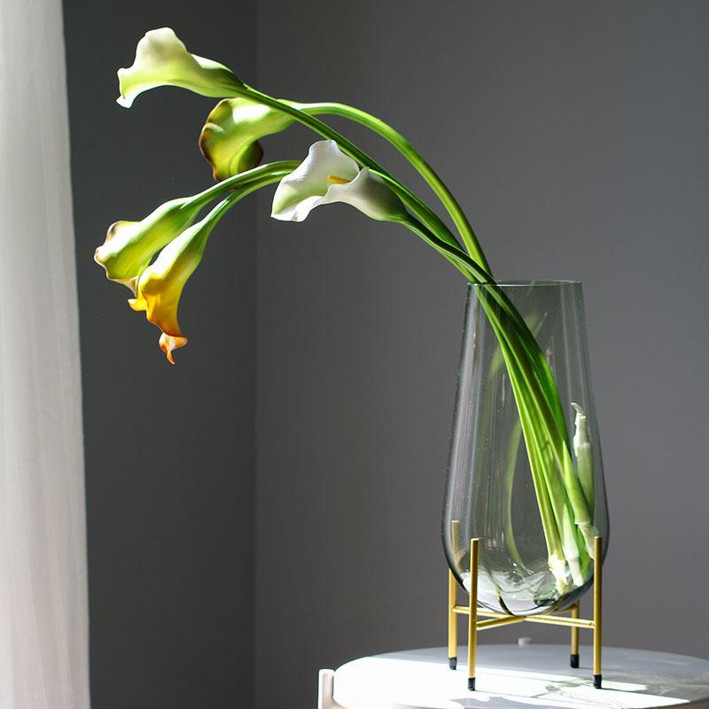 轻奢玻璃花瓶大果盘摆件现代简约样板间家居软