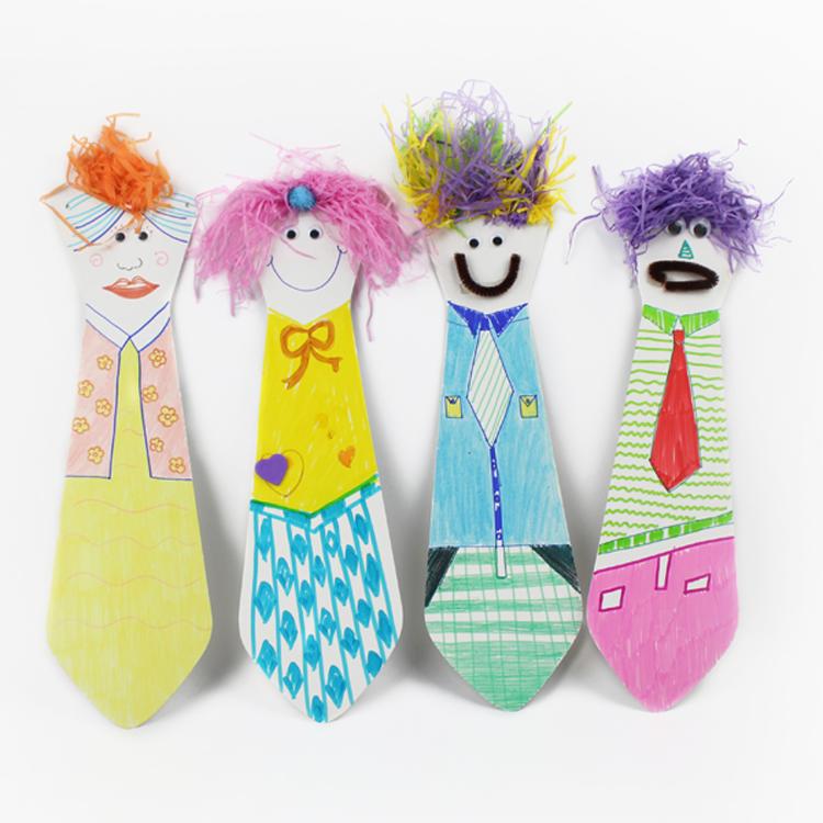 父亲节爸爸纸质领带作品幼儿园儿童diy手工制作材料创意益智玩具