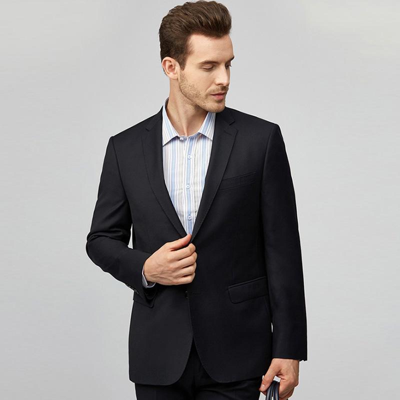 圣得西休闲小西装男2019秋季新款商务正装单西男士修身西服外套