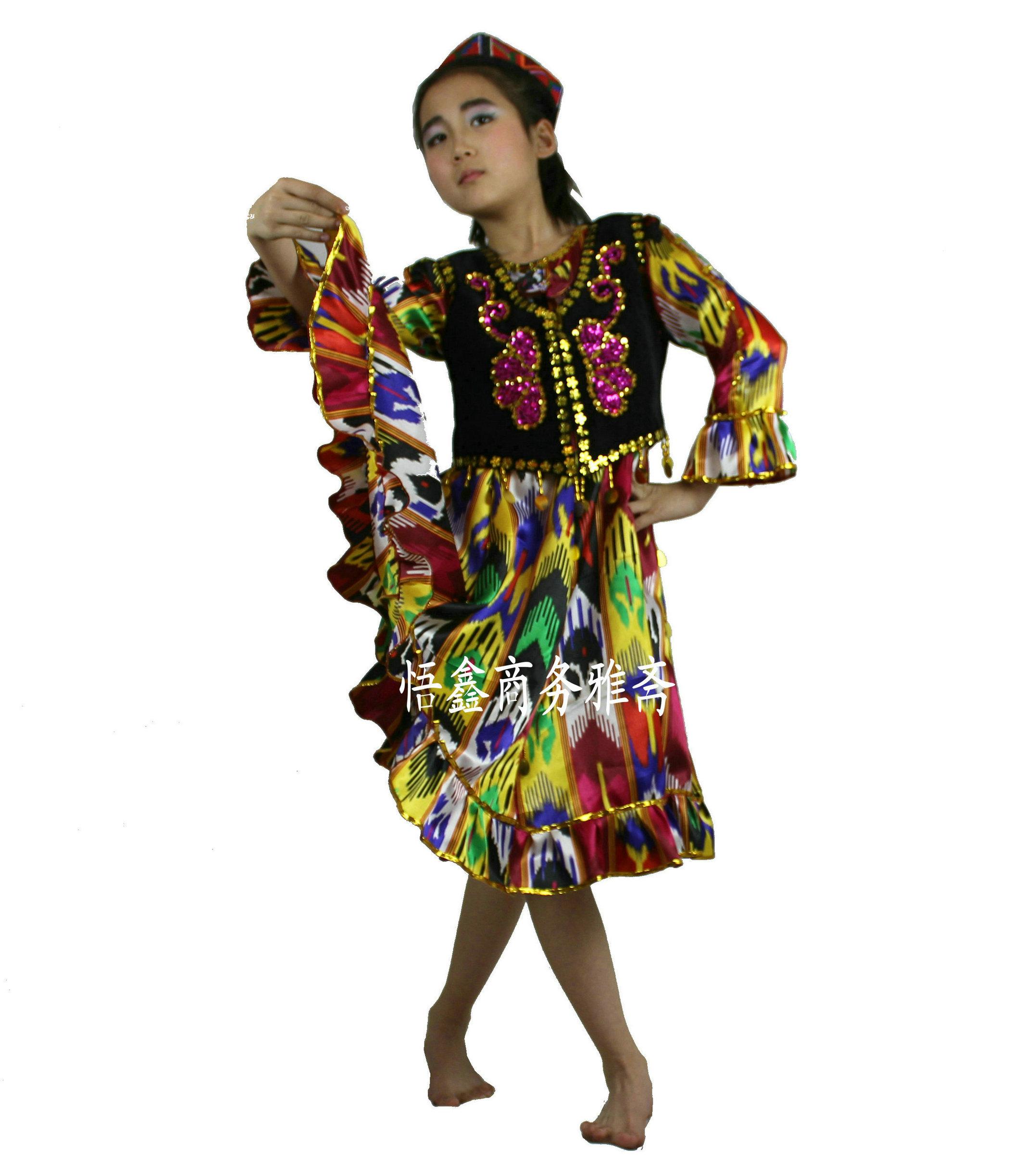 新疆帽子女少数民族舞蹈演出头饰成人维吾尔族花帽新疆儿童小帽