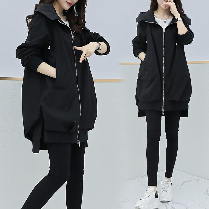 春季新款韩版女装宽松显瘦小个子网红风衣女中长款流行外套潮 2019