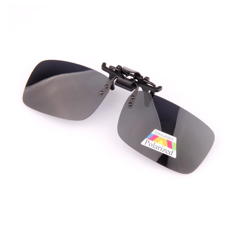 近视太阳镜夹片男女夜视眼镜司机开车驾驶镜可上翻挂片式偏光墨镜