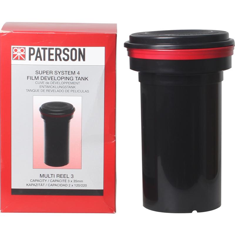 英国百得信Paterson 135 120胶片通用 三芯显影罐冲洗罐 暗房用品