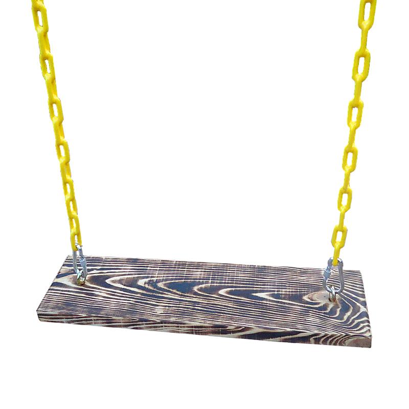 实木麻绳秋千户外荡秋千麻绳铁链秋千板成人儿童室内秋千吊椅床