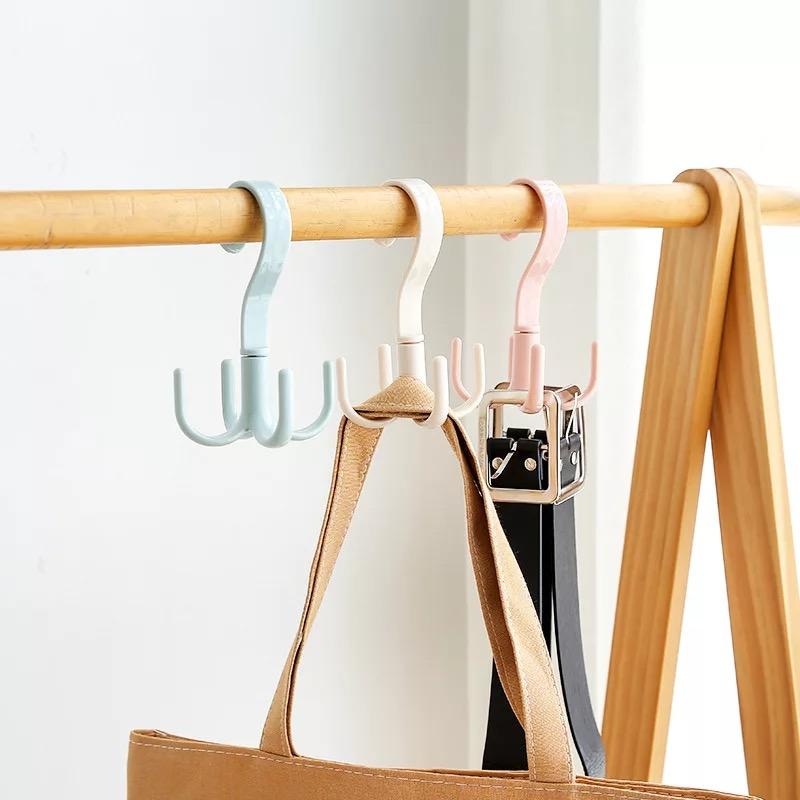 多功能家用絲巾圍巾皮帶包包收納架塑料衣架鉤衣服掛架S鉤掛衣架