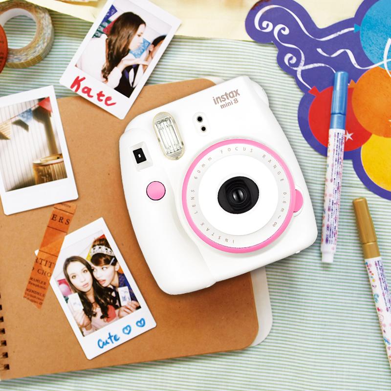 Fujifilm/富士mini8 套餐含拍立得相纸 一次成像照相机可爱熊本熊